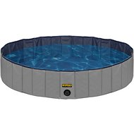 KOPEKS Outdoor Dog Swimming Pool, Grey, X-Large