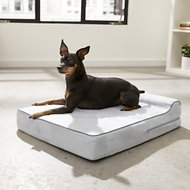 KOPEKS Orthopedic Memory Foam With Pillow Dog Bed, Gray, Small
