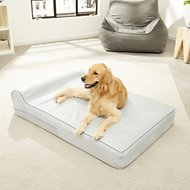 KOPEKS Orthopedic Memory Foam With Pillow Dog Bed, Gray, X-Large