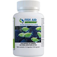 Fish Aid Antibiotics Doxycycline Capsules Fish Medication, 100-mg, 12 count