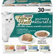 Fancy Feast Gourmet Naturals Seafood Variety Pack Canned Cat Food, 3-oz, case of 30