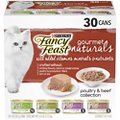 Fancy Feast Gourmet Naturals Poultry & Beef Variety Pack Canned Cat Food