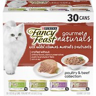Fancy Feast Gourmet Naturals Poultry & Beef Variety Pack Canned Cat Food, 3-oz, case of 30