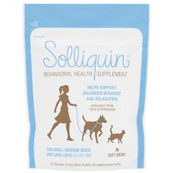 Nutramax Solliquin Calming Small-Medium Dogs & Large Cat Soft Chews, 75 count