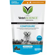VetriScience Composure Behavioral Health Bite-Sized Peanut Butter Flavor Dog Chews, 120 count