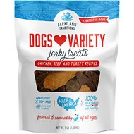 Farmland Traditions USA Dogs Love Variety Jerky Dog Treats, 3-lb bag