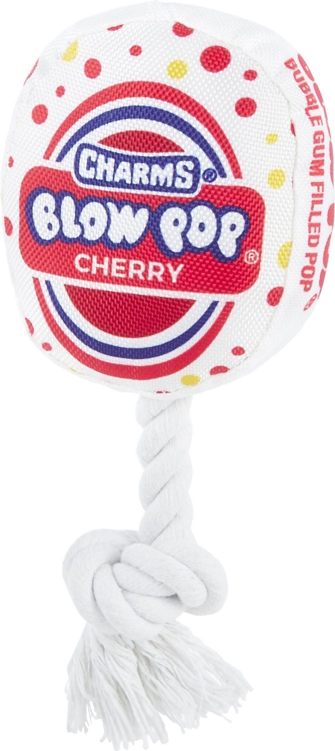 Our Pets Tootsie Roll Pop Cherry Dog Toy Squeaky