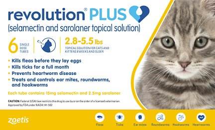 Revolution Plus Topical Solution For Cats 2 8 5 5 Lbs 6