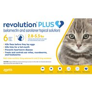 Revolution Plus Topical Solution for Cats, 2.8-5.5 lbs, 6 treatment (Gold Box)