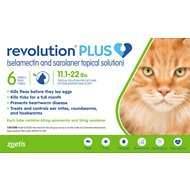 Revolution Plus Topical Solution for Cats, 11.1-22 lbs, 6 treatment