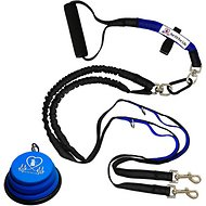 Pet Fit For Life Dual Dog Leash with Bowl