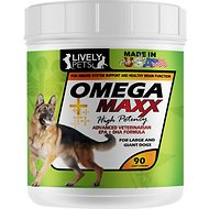 Lively Pets Omega Maxx Fish Oil Large & Giant Dog Soft Chews, 90 count