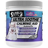 Lively Pets Ultra Soothe Calming Aid Dog Soft Chews, 60 count