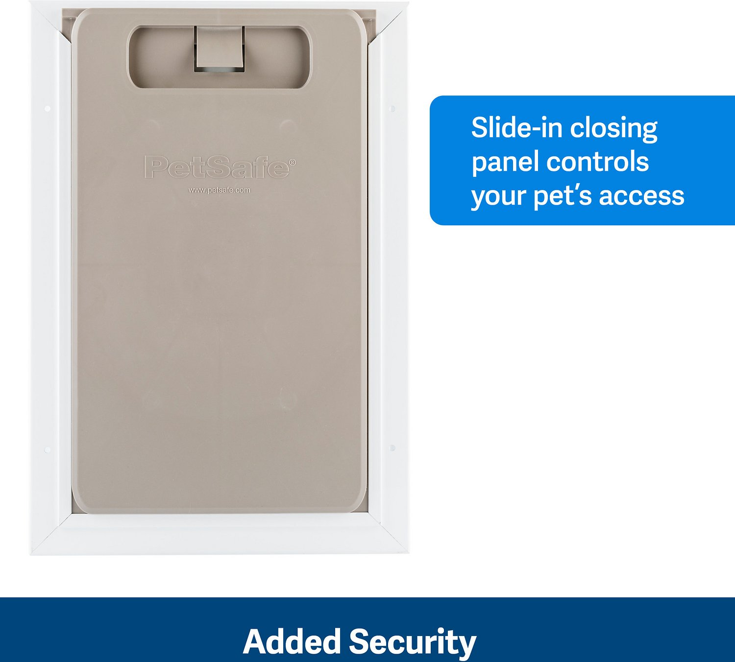 Petsafe White Wall Entry Plastic Pet Door Small Chewy Com