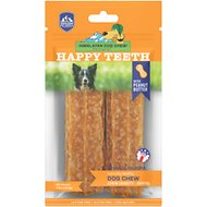 Himalayan Dog Chew Happy Teeth Large Peanut Butter Flavor Dental Dog Treat, 2 count