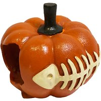 Sporn Pumpkin with Fish Aquarium Ornament