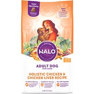 Halo Holistic Chicken & Chicken Liver Adult Dry Dog Food, 21-lb bag