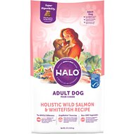 Halo Holistic Wild Salmon & Whitefish Adult Dry Dog Food, 21-lb bag