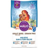 Halo Holistic Surf & Turf Grain-Free Adult Dry Dog Food, 21-lb bag