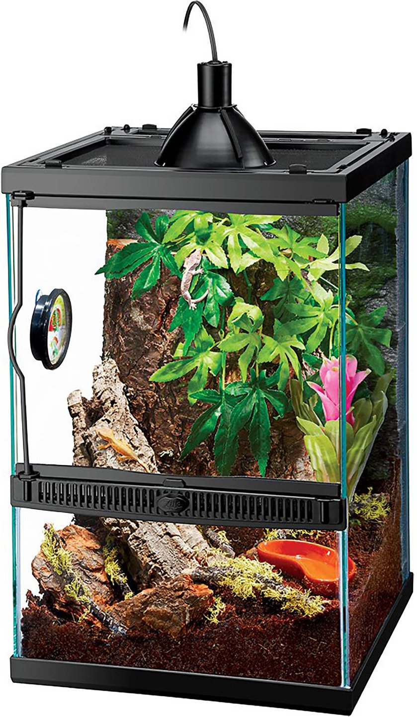 Zilla Tropical Vertical Starter Kit With Mini Halogen Lighting Chewy Com