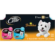 Cesar Breakfast Classic Loaf in Sauce Multipack Wet Dog Food Trays, 3.5-oz, case of 12