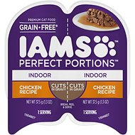 Iams Perfect Portions Healthy Kitten Chicken Recipe Grain-Free Cuts in Gravy Wet Cat Food Trays, 2.6-oz, case of 24 twin-packs