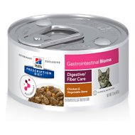Hill's Prescription Diet Gastrointestinal Biome Digestive/Fiber Care Chicken & Vegetable Stew Canned Cat Food, 2.9-oz, case of 24