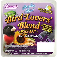 Brown's Garden Chic! Bird Lovers' Blend Suet Cake Wild Bird Food, 11-oz tray