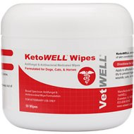 VetWELL KetoWell Antiseptic Dog, Cat & Horse Wipes