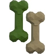 Pet Champion Rubber XL 2-Pack Chew Bone Dog Toy, Green