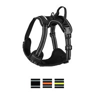 Rabbitgoo No Pull Dog Harness, Black, Small