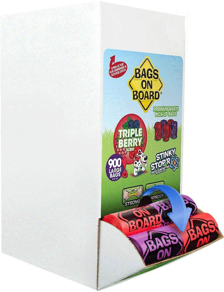 Strong 9 x14 Inch Scented Waste Pickup Bags Leak Proof Dog Waste Bags Bags on Board Odor Control Dog Poop Bags and Dispenser