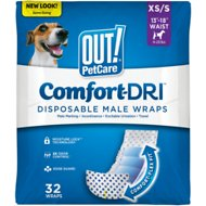 OUT! Disposable Male Dog Wraps