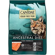 CANIDAE Grain-Free PURE Ancestral Diet Freeze-Dried Raw Coated Fish Formula with Salmon Dry Cat Food, 2.5-lb bag