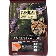 CANIDAE Grain-Free PURE Ancestral Diet Freeze-Dried Raw Coated Multi-Protein Formula with Turkey & Salmon Dry Cat Food, 2.5-lb bag
