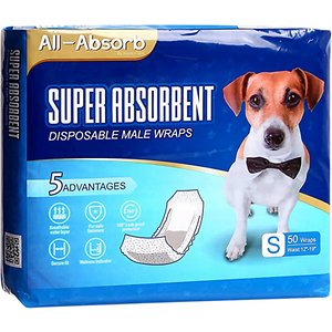 All-Absorb Disposable Male Dog Wraps