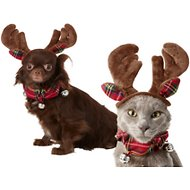 Frisco Holiday Antler Headband & Bell Collar Dog & Cat Costume, X-Small/Small