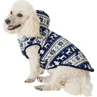 Frisco Dog & Cat Fair Isle Fleece Lined Hoodie, Medium, Navy