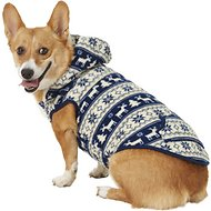 Frisco Dog & Cat Fair Isle Fleece Lined Hoodie, Large, Navy