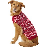 Frisco Reindeer Fair Isle Dog & Cat Sweater, Red