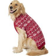 Frisco Reindeer Fair Isle Dog & Cat Sweater, Red, XX-Large