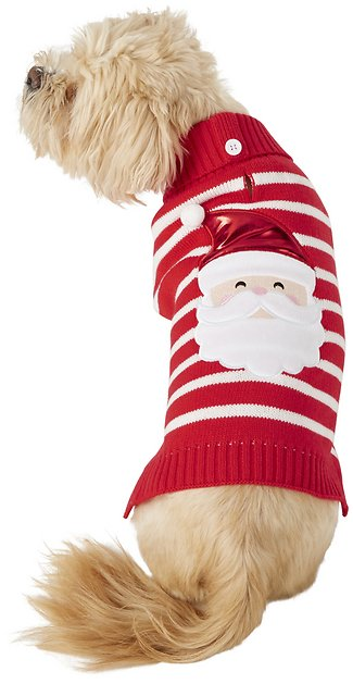 frisco-striped-santa-dog-&-cat-sweater by frisco