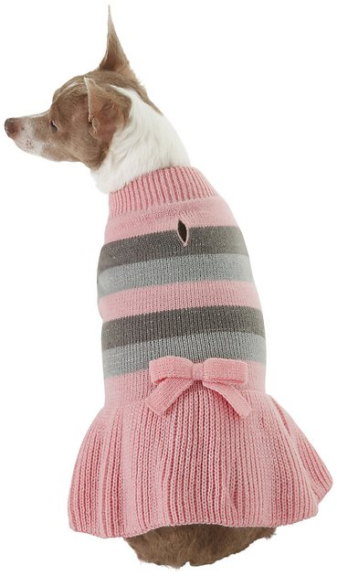 frisco-striped-dog-&-cat-sweater-dress by frisco