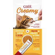 Catit Creamy Chicken & Liver Flavor Lickable Cat Treats, 30 count