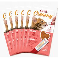 Catit Creamy Salmon Flavor Lickable Cat Treats, 30 count