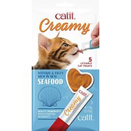 Catit Creamy Scallop Flavor Lickable Cat Treats, 30 count