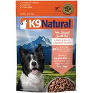 K9 Natural Lamb & King Salmon Grain-Free Freeze-Dried Dog Food, 1.1-lb bag