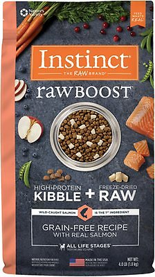 3. Instinct Raw Boost Grain-Free Recipe with Real Salmon
