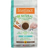 Instinct by Nature's Variety Be Natural Puppy Real Chicken & Brown Rice Recipe Dry Dog Food, 4.5-lb bag