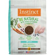 Instinct by Nature's Variety Be Natural Puppy Real Chicken & Brown Rice Recipe Dry Dog Food, 24-lb bag